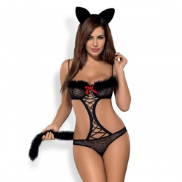 Costume Gepardina modulable - Noir
