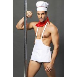 Tenue de cuisinier sexy - 4 pièces