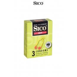 3 préservatifs Sico GRIP