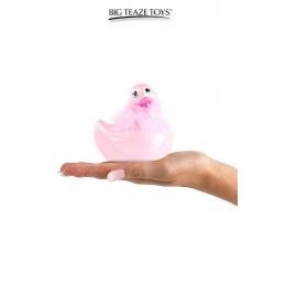 Mini canard vibrant Duckie Paris - rose