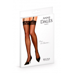 Bas classiques en voile Bruna noir - Anne d'Ales