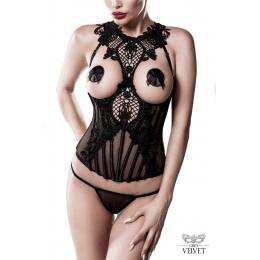 Bustier seins nus et string - Grey Velvet