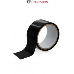 Ruban de soumission noir 15m - Fétish Tentation