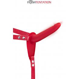 Gode ceinture rouge vibrant Fetish Tentation
