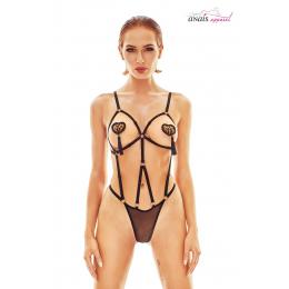 Body harnais noir Belleza - Anaïs