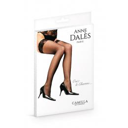 Bas autofixants Camilla Noir - Anne d'Alès
