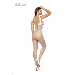 Combinaison résille Bianca Blanc - Anaïs