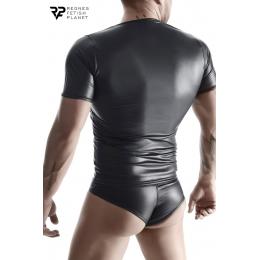 T-shirt wetlook noir - Regnes