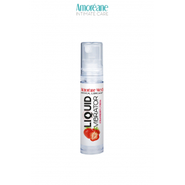 Lubrifiant Liquid Vibrator Fraise 10ml - Amoreane Med