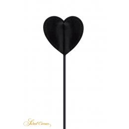 Tapette coeur avec pompon noir - Sweet Caress
